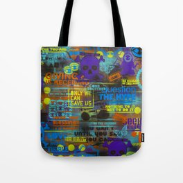 Uplifting Collage (fluo) Tote Bag