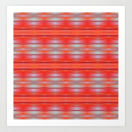 Red ikat Art Print