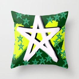 Night Stars Green Pahagh Throw Pillow