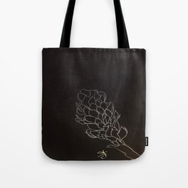 Black and White Alpinia purpurata – Red Ginger Flower, Bogota, Colombia Tote Bag