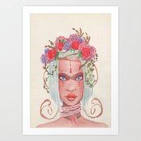 maori Art Prints featuring Maori by Caly