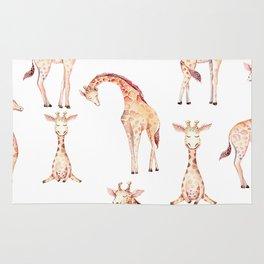 Tan Giraffes Rug