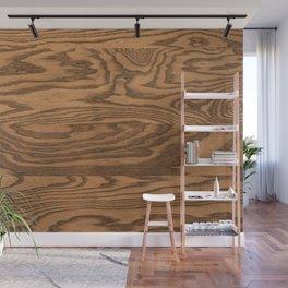 Wood 5, heavily grained wood Horizontal grain Wall Mural