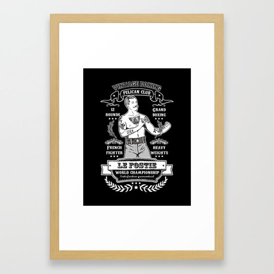 Vintage Boxing - Black Edition Framed Art Print by tsir | Society6