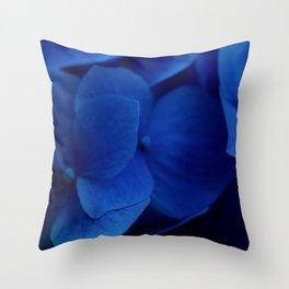 Bluest Blue Flower Throw Pillow