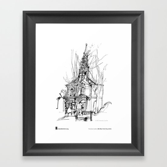 "Veronica Lawlor, ""St. Paul's Chapel"" Framed Art Print"