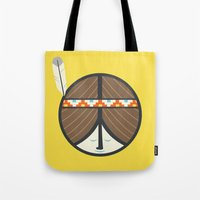 peace Tote Bags featuring Peace by Wharton