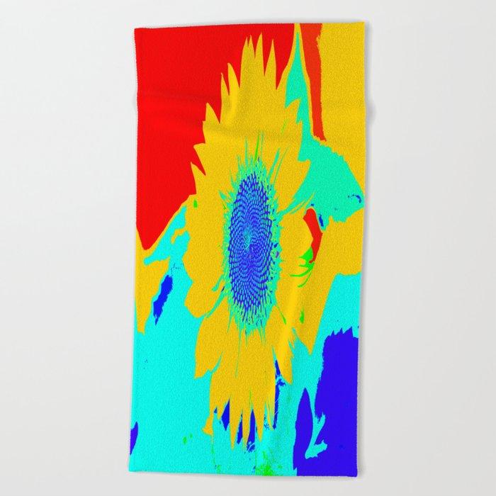 Fun Sunflower #decor #society6 Beach Towel