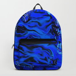 Gear Head:Flaming Blue Skull Backpack