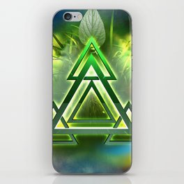 Sacred Geometry - Equilateral Triangle 05 iPhone Skin