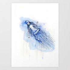 Under the deep sea - Sumergida en las profundidades Art Print