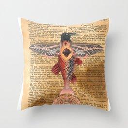 Sacred Heart Crow Throw Pillow