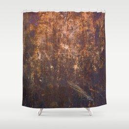 Rust. Fashion Textures Shower Curtain