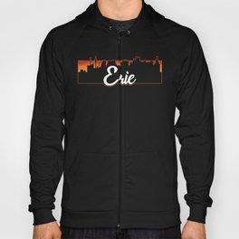 Vintage Erie Pennsylvania Sunset Skyline T-Shirt Hoody