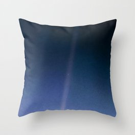 Pale Blue Dot — Voyager 1 (2020 revision) Throw Pillow