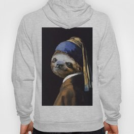 The Sloth with a Pearl Earring Hoody