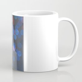 No. 45 - Print of Deep Blue Bokeh Inspired Modern Abstract Painting  Coffee Mug
