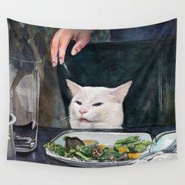 Woman Yelling at Cat Meme-2 Wall Tapestry