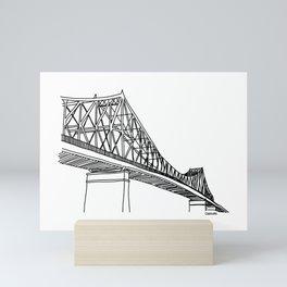 Montreal - Pont Jacques-C - Black Mini Art Print
