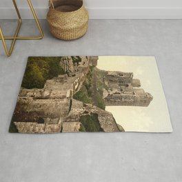 Vintage Photo-Print of Scarborough Castle (1900) Rug