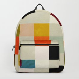 modern mid century chequers Backpack