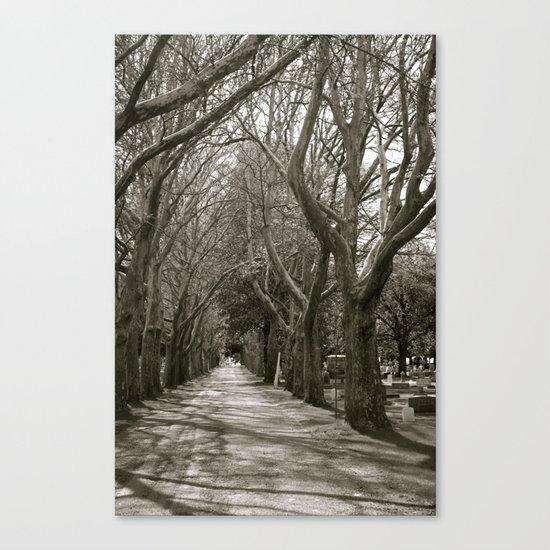Cemetery Lane Canvas Print