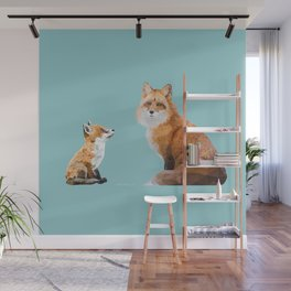 Fox Tenderness Wall Mural