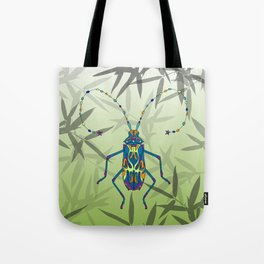 Insect Bamboo leaves Green Unique Pattern Tote Bag