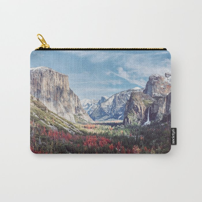 Tunnel View Yosemite Valley Carry-All Pouch