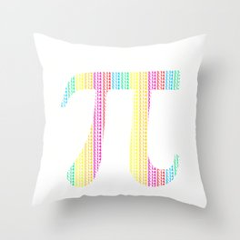 Pi Day 3.14 Pi symbol with Math Equations Gift for Math Geek design Throw Pillow