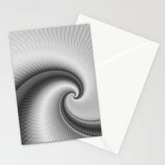 The Big Wave Spiral in Monochrome Stationery Cards