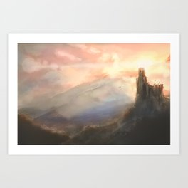 Landscape with ruin Art Print