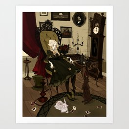 Clever Little Alice Art Print
