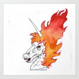 i am the HORSE of HELL Art Print