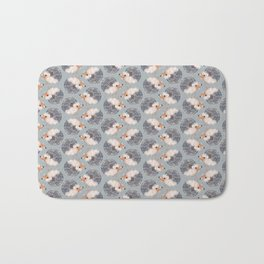 Hedgehogs Pattern Bath Mat