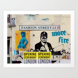 Fashion Street Art Print