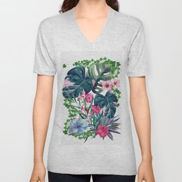 Tropical Plants Unisex V-Neck
