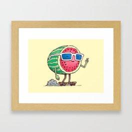 Watermelon Skater Framed Art Print