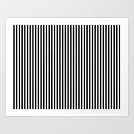 Black & White Vertical Stripes Art Print