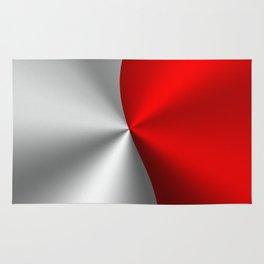 Metallic Red & Silver Geometric Design Rug