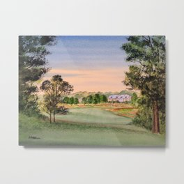 Hamilton Farm Golf Club Highlands Course 18th hole Metal Print