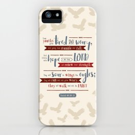 """""""Hope in the Lord"""" Hand-Lettered Bible Verse iPhone Case"""