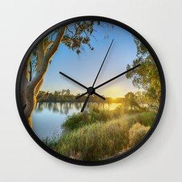 River Sunrise Wall Clock