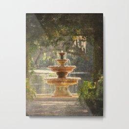 Fountain at the Pergola Metal Print