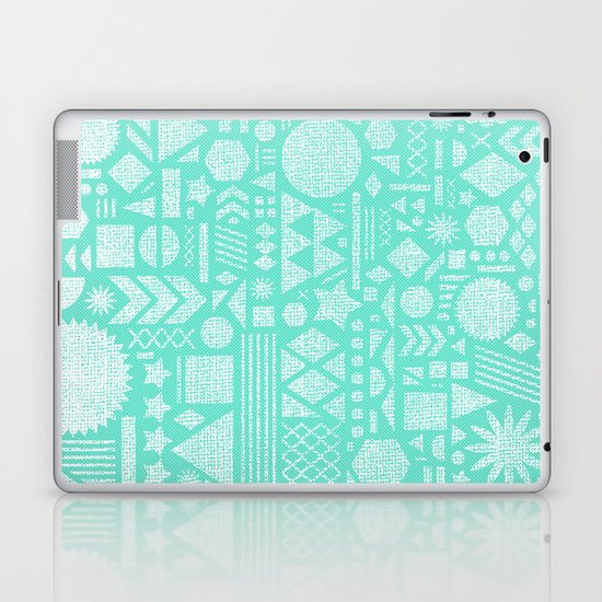Modern Elements with Turquoise Laptop & iPad Skin