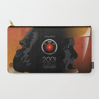 2001 Carry-All Pouches featuring 2001 - A space odyssey by Martin Woutisseth