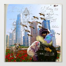 THE ASTRONAUT'S PET PIGEON II Canvas Print