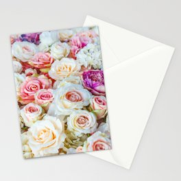 Colorful Roses Stationery Cards