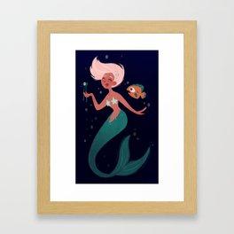 Mermaid Snack Framed Art Print