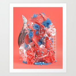 Living Coral Art Print